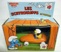 Smurfs - Die-Cast vehicule Esci - Smurfette corn car (Mint in Box)