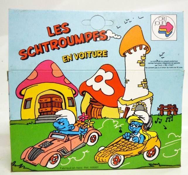 Smurfs - Die-Cast vehicule Esci - Smurfette corn car (Mint in Box)