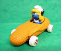 Smurfs - Die-Cast vehicule Esci - Smurfette yellow corn car (Loose)