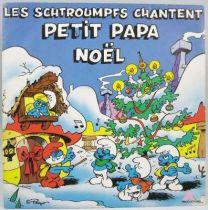 Les Schtroumpfs - Disque 45T - Petit Papa Noël - AB Prod. 1983