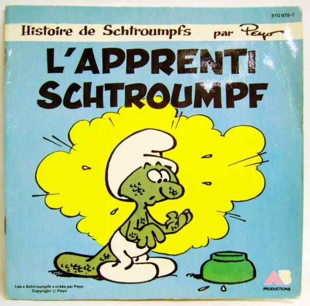 Smurfs - Record-Book 45s - The apprentice smurf - AB Prod. 1983