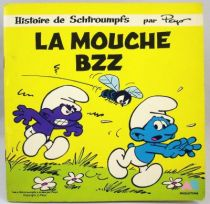 Les Schtroumpfs - Livre-Disque 45T - La Mouche Bzz - AB Prod. 1983