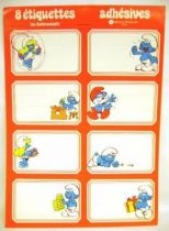Smurfs - School self-stick labels Michel Okes Editions -  1 x self-stick labels set