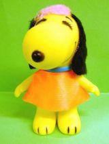 Snoopy - 6inches Vinyl Figure - Belle with orange dress (black ears)