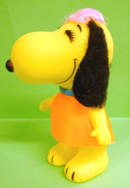 Snoopy - 6inches Vinyl Figure - Belle with orange dress (black ears)
