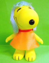 Snoopy - 6inches Vinyl Figure - Belle with orange dress (blue ears)