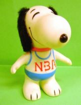 Snoopy - 6inches Vinyl Figure - Snoopy with \'\'NBA\'\' blue T-shirt