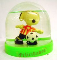 Snoopy - Comic Spain Snow Dome - Snoopy Soccer Player (White & Red T-shirt)