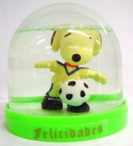 Snoopy - Comic Spain Snow Dome - Snoopy Soccer Player (White T-shirt w Blue Strip)