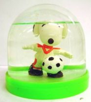 Snoopy - Comic Spain Snow Dome - Snoopy Soccer Player (White T-shirt w Red Strip)