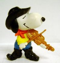 Snoopy - Schleich PVC Figure - Cowboy Snoopy plays violin.