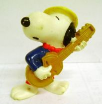 Snoopy - Schleich PVC Figure - Gondolier Snoopy with Guitar
