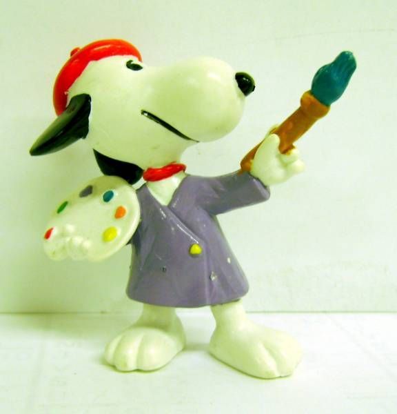 Snoopy - Schleich PVC Figure - Painter Snoopy