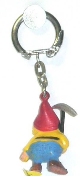 Snow White - Jim keychain Mini Figure - The dwarf Happy