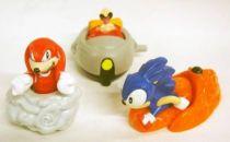 Sonic the Hedgehog - Set of 3 Happy Meal figures : Sonic, Knuckles, Robotnik