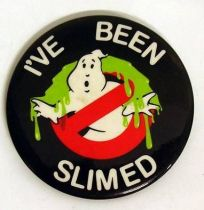 S.O.S. Fantomes (Ghostbusters) - Badge vintage - I\'ve been slimed