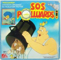 S.O.S. Polluards! - Disque 45Tours - Bande Originale S�rie Tv - Disques Ades 1989