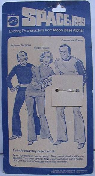 Space 1999 - Mattel 1975 - Commander Koening, Dr Russel & Prof. Bergman