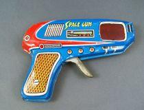 Space Gun - Friction and Spark Action Gun (Tin) - Shudo (Japan) 1960\'s