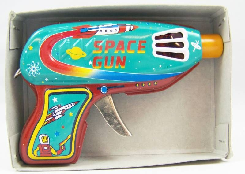 Space Gun - Sparkling Tin Toy