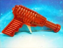 Space Gun - Sparkling Toy - Transparent Ray Gun (Red)