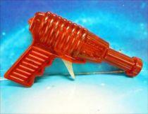 Space Gun - Sparkling Toy - Transparent Ray Gun (Red)