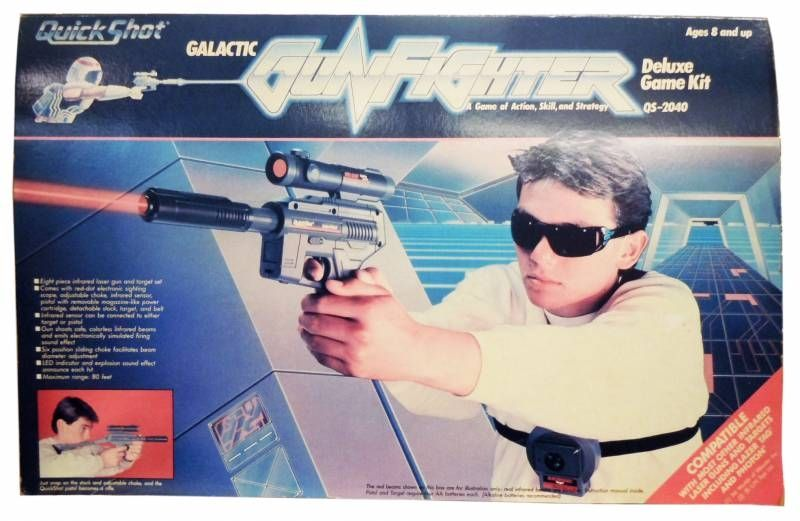 Space Gun - Spectravideo International Ltd - Quick Shot: Galactic GunFighter Deluxe Game Kit (Infrared) QS-2040