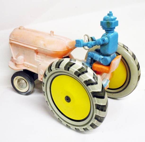 Space Toys - Battery Toy - Space Tractor with Robot Driver (Russia 1960\\\'s)