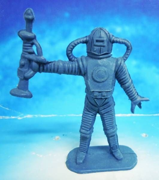 Space Toys - Comansi Plastic Figures - Alien #6 (blue)