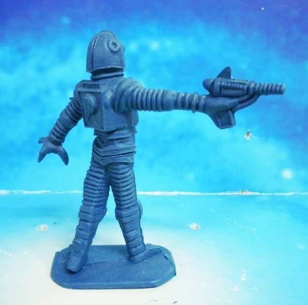 Space Toys - Comansi Plastic Figures - Alien #7 (blue)