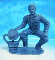 Space Toys - Comansi Plastic Figures - OVNI 2019: Astronaut (blue)