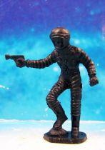 Space Toys - Figurines Plastiques - Cosmonaute pied droit sur rocher & spacegun (Bonux couleur noire) 01