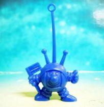 Space Toys - Plastic Figures - Cereal Premium Aliens (astronaut with flag blue)