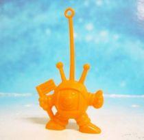 Space Toys - Plastic Figures - Cereal Premium Aliens (astronaut with flag orange)