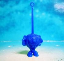 Space Toys - Plastic Figures - Cereal Premium Aliens (hysterical blue)