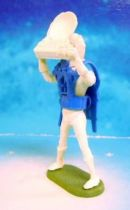 Space Toys - Plastic Figures - Cherilea Spacemen (White & Blue) with radar