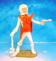 Space Toys - Plastic Figures - Cherilea Spacemen (White & Red) with weapons