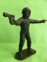 Space Toys - Plastic Figures - Cosmonaut pointing & spacegun (Bonux black color)