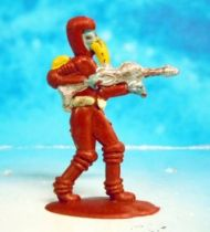 Space Toys - Plastic Figures - Outer Space Bazaar: Alien (red) with Ray Rifle