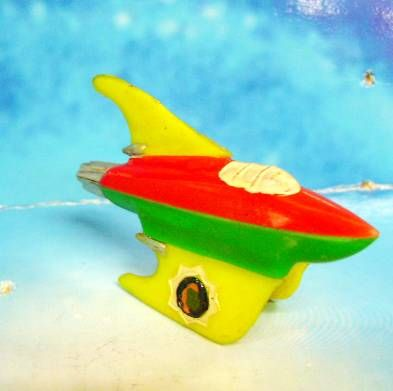 Space Toys - Plastic Figures - Space Rocket X-12 (Yellow, Red, Green)