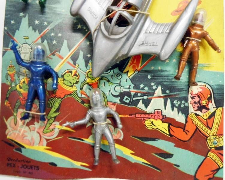 Space Toys - Production Rex-Jouets (France) Figurines Plastiques - Captain Video Spacemen & Space Ship Rocket (type Rex Mars) #2