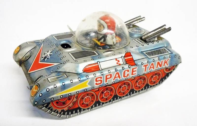 Space Toys - Takatoku Tin toy Wind-up - Space Tank (Japan 1960\'s)
