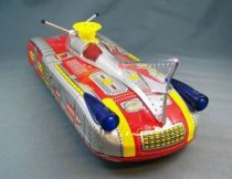 Space Toys - Tin Battery Operated Moon Satellite Car (China 70\'s)