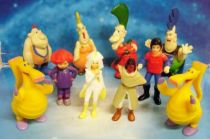Spartakus and the Sun beneath the Sea - PVC Figures - Complete set of 10 figures (loose)