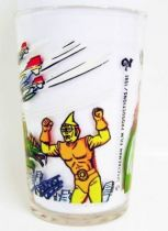 Spectreman - Amora Mustard glass - Spectreman defends the city against Monsters