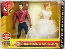 spider_man_2_film_2004___figurines_30cm_peter_parker___mary_jane___toy_biz