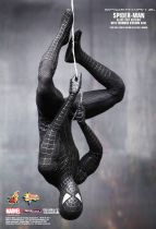 "Spider-Man 3 - Black costume Spidey (Tobey Maguire) 12"" figure with Sandman diorama - Hot Toys Sideshow MMS165"