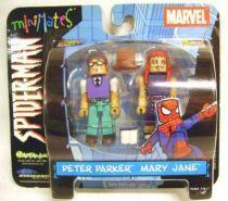 Spiderman - Comics - Art Asylum - Peter Parker & Mary Jane (MiniMates) San Diego Comic Con. Exclusives