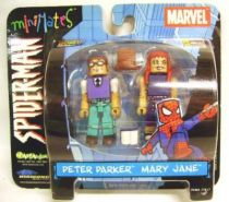 Spiderman - Comics - Art Asylum - Peter Parker & Mary Jane (MiniMates) San Diego Comic Con. Exclusives