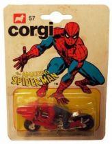 Spiderman - Corgi Junior Ref. 57 - Spidermoto (mint on card)